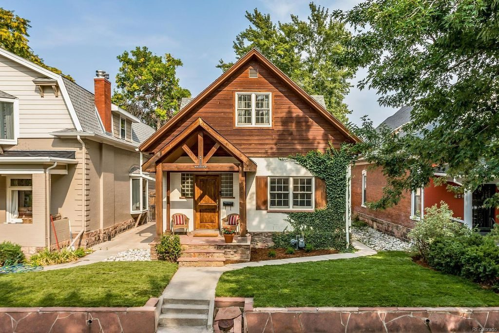 Quaint all-wood Denver cottage with a amazing curb appeal.