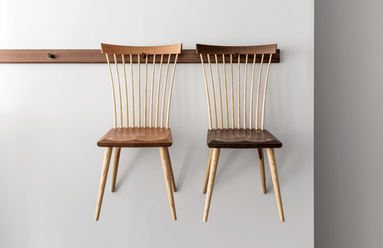 Thos moser spindle back chairs