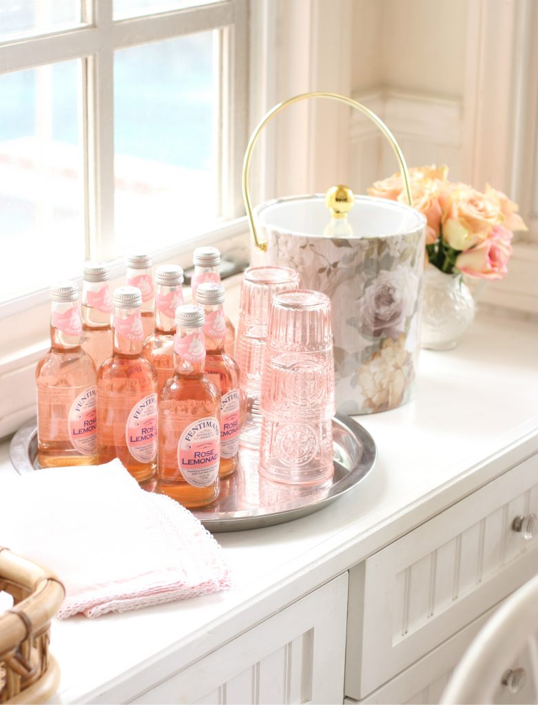 Pink lemonade bottles
