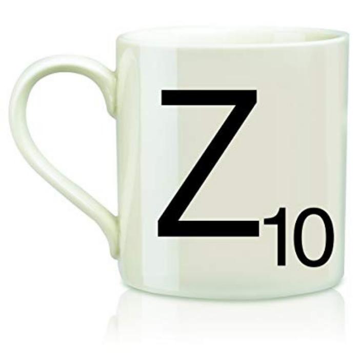 White Mug Scrabble Design Letter Z