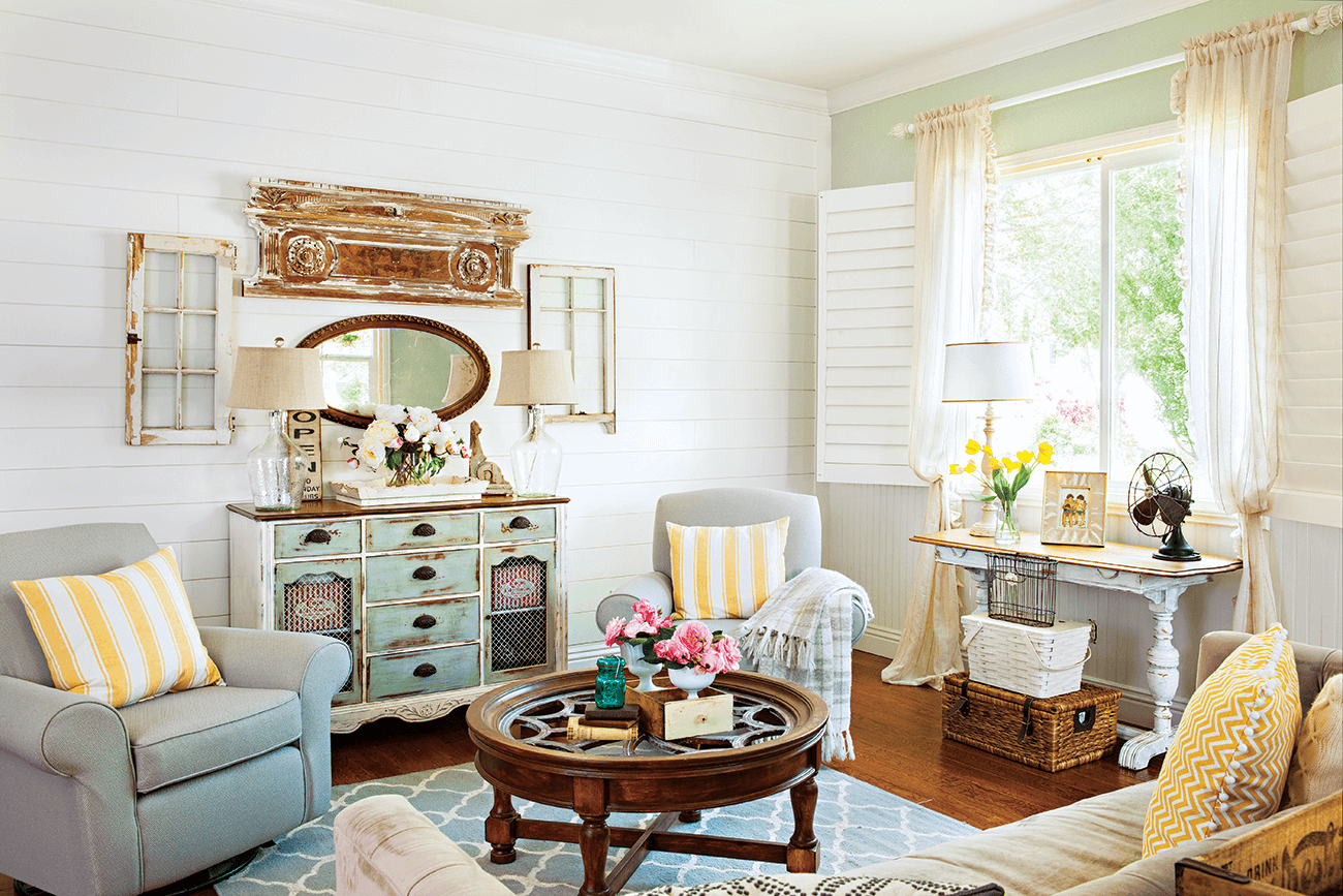 Picture of: Colorful Vintage Cottage Style Cottage Style Decorating Renovating And Entertaining Ideas For Indoors And Out