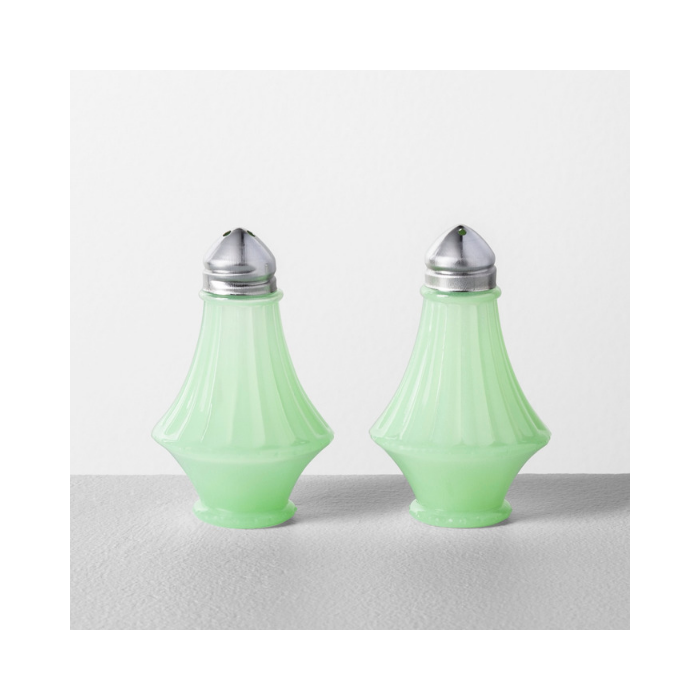 Hearth & Hand Jadite milk glass salt and pepper shakers