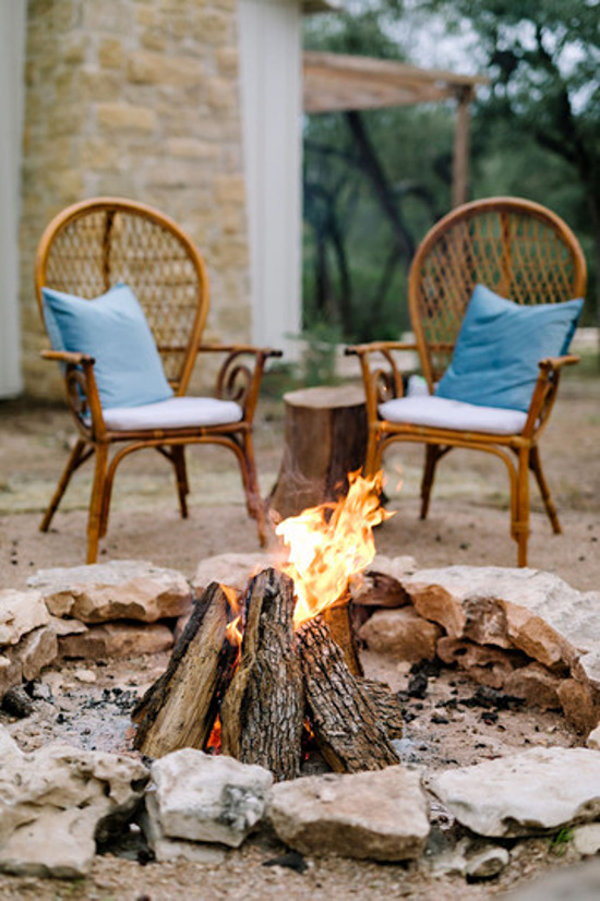bonfire with seating