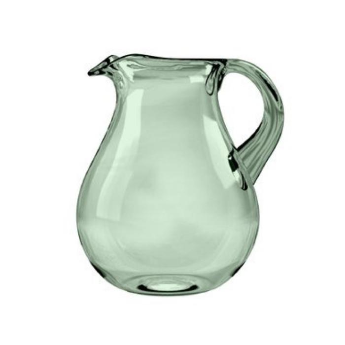 aqua colored glass pitcher