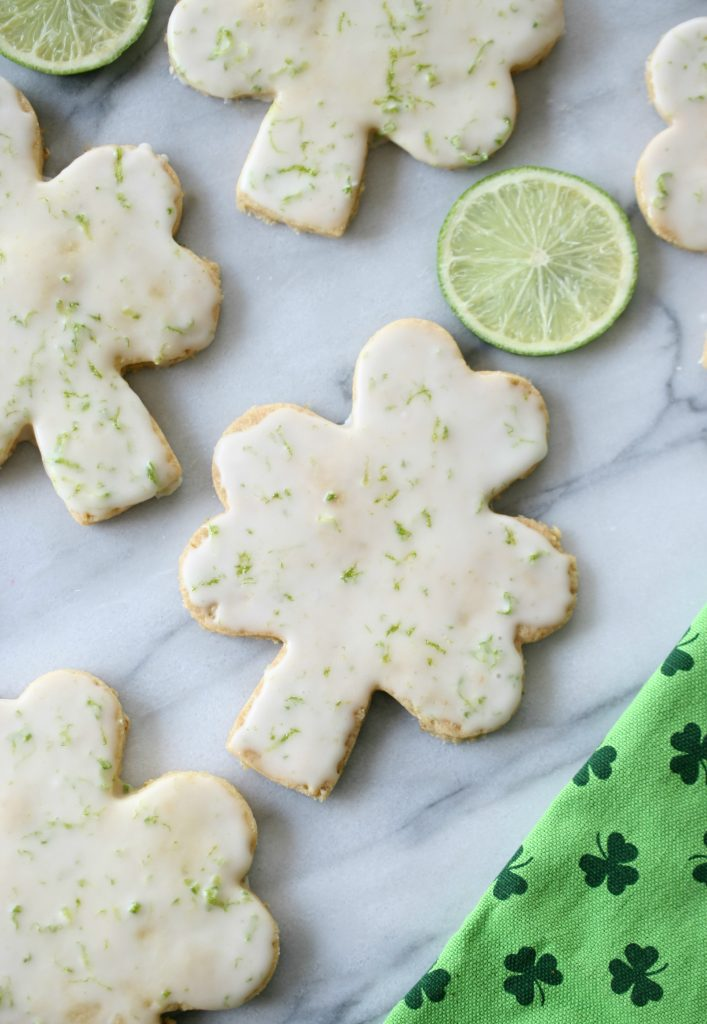 Easy to make Shamrock Shortbread Cookies for St. Patrick's Day #cottagesandbungalows #stpaddysday #cookies #dessert #recipe