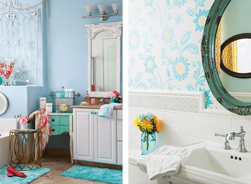lovely and relaxing bathroom images with bright white and blue accents.