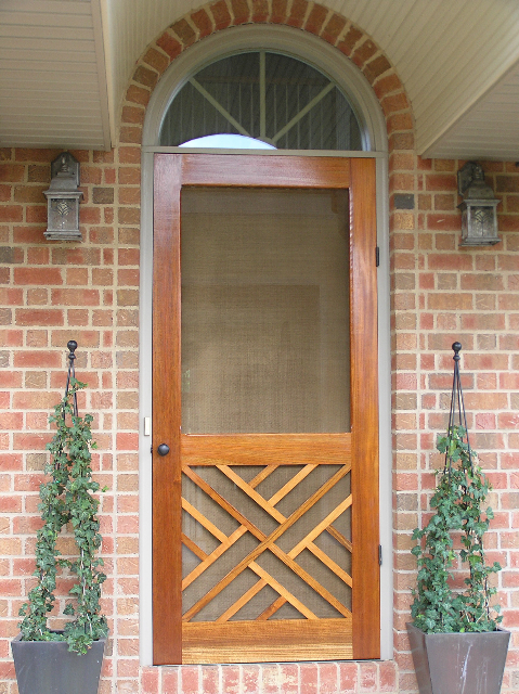 the Chippendale, with clean lines, would be perfect for a midcentury-style cottage // vintage doors