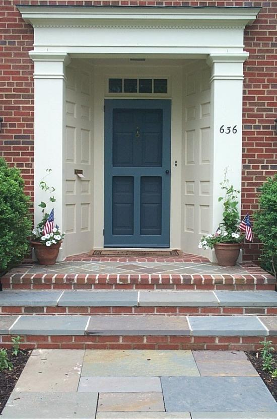 the Old Fashion's T-shape provides a great view of the outdoors // vintage doors