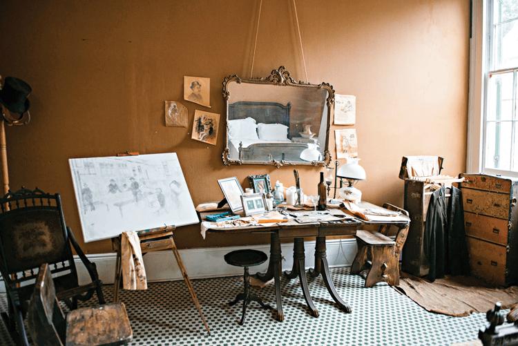 art studio corner in Degas house