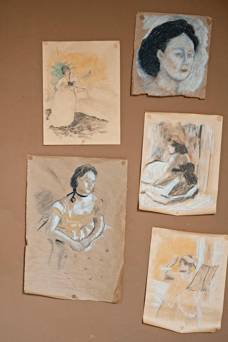 replica sketches of Edgar Degas' work