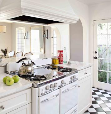 vintage oven in a kitchen