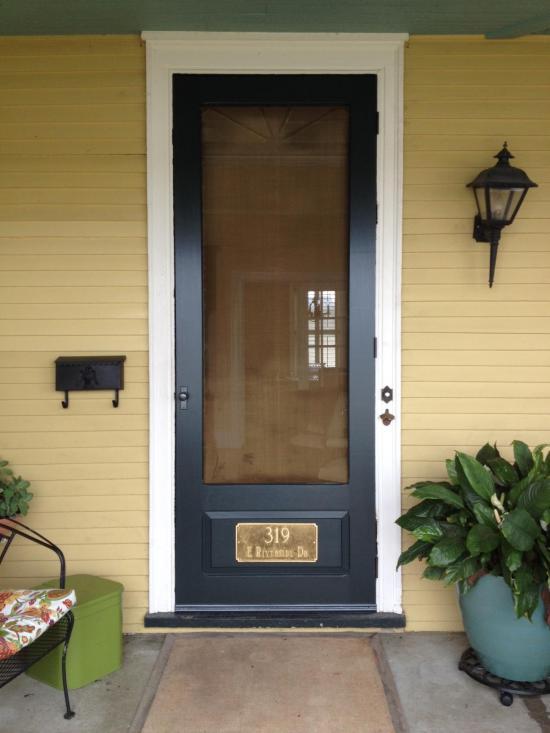 vanderbuilt door with copper screen // vintage doors