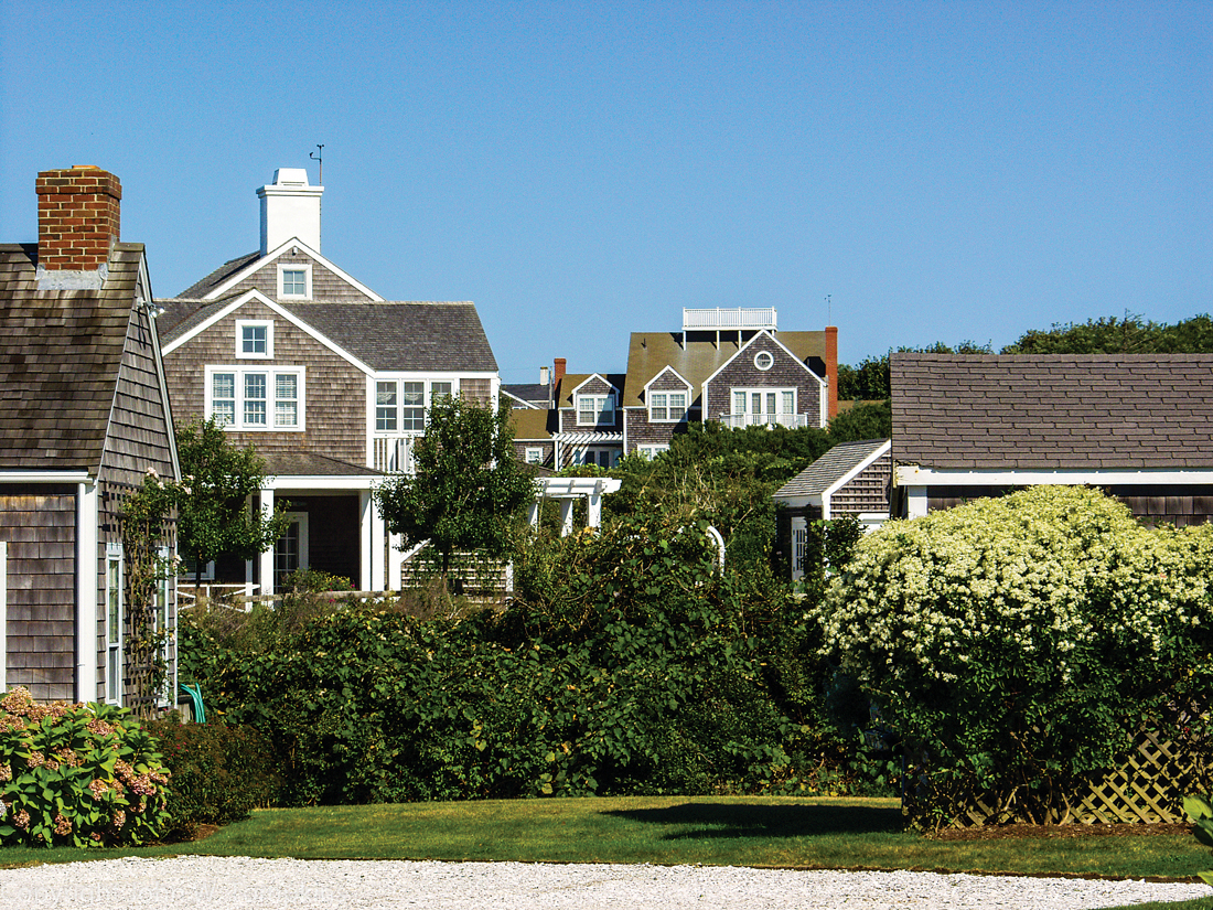 Nantucket cottage rooftops.