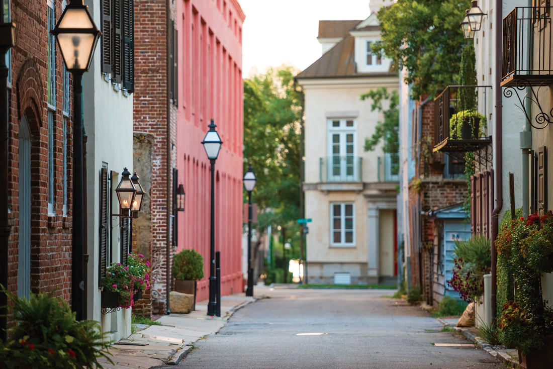 The streets of Charleston, South Carolina.