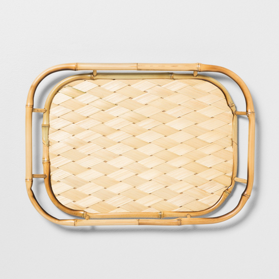bamboo thatched serving tray