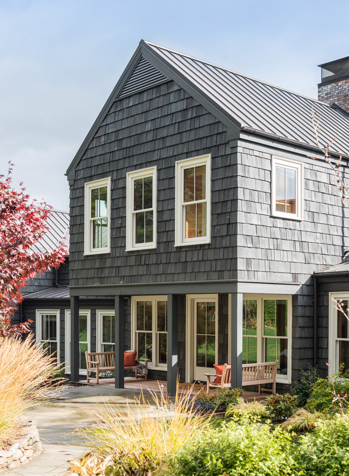 Pacific Northwest Cottage with dark gray paint