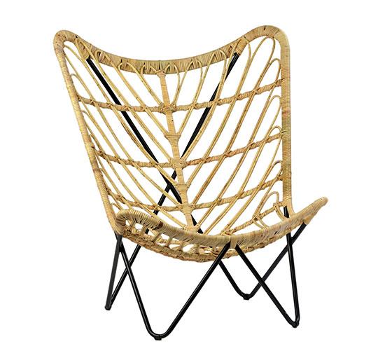 rattan butterfly chair