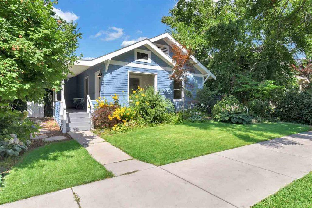 blue cottage in Old Boise