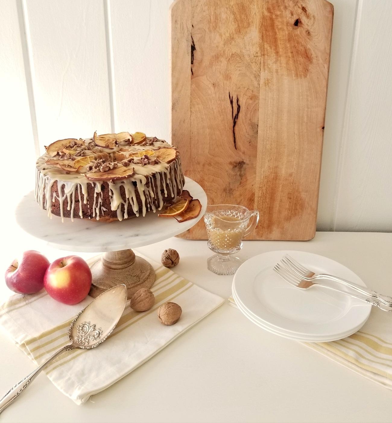 Autumnal Apple Spice Cake Cottage Style Decorating
