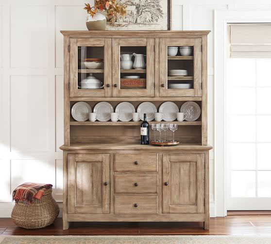 Wooden china cabinet.