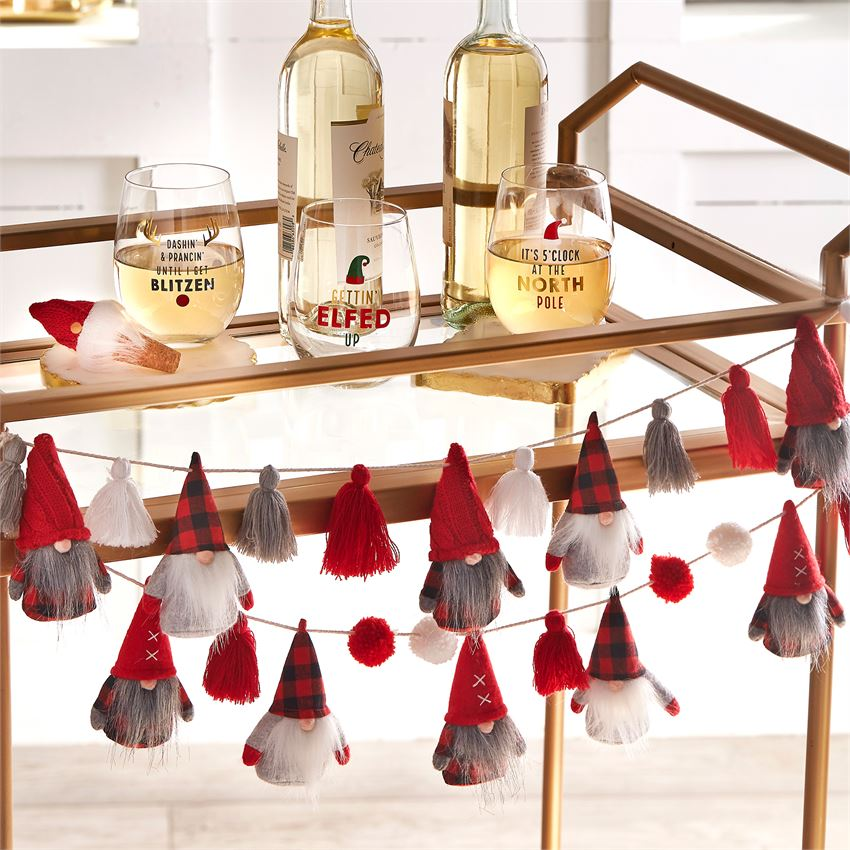 holiday entertaining ideas for bar cart