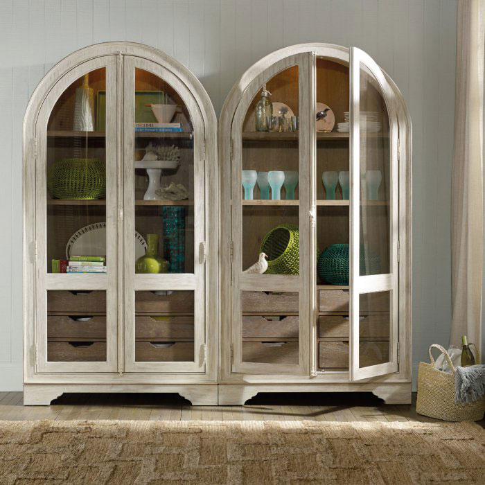 Rounded double china cabinet.
