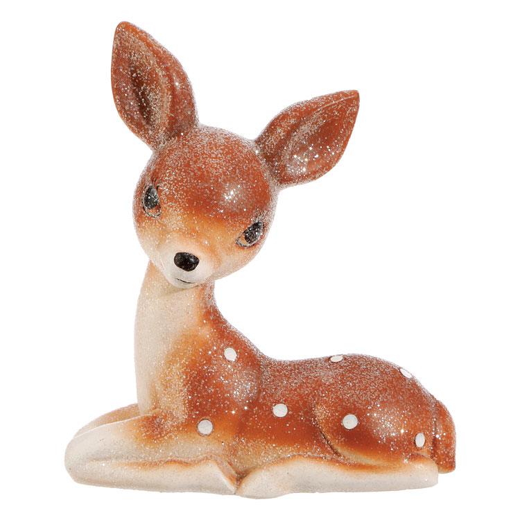 Vintage-style Retro resting deer figurine