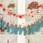 Mini stocking advent calendar garland