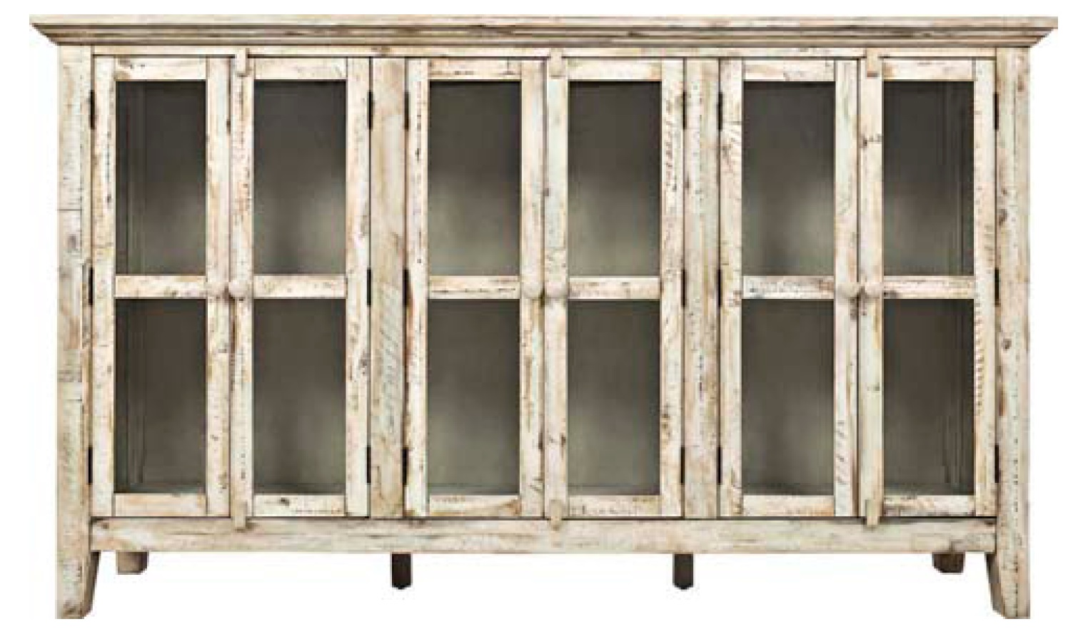 Eau Claire 6-door accent cabinet in the color Scrimshaw