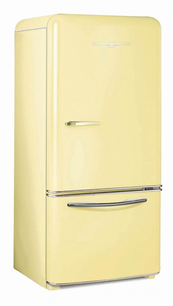 Northstar soft yellow fridge