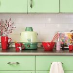 mint green vintage metal kitchen cabinets