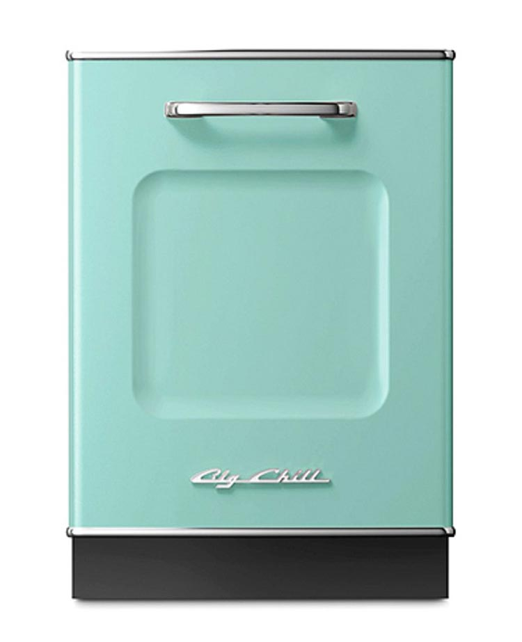 Big Chill retro dishwasher in turquoise
