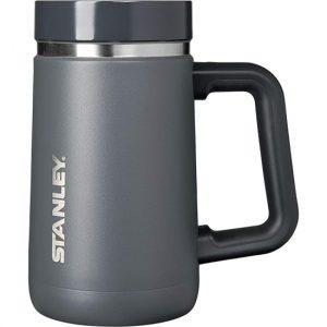 Slate gray Stanley travel mug.