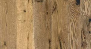 Up close image of a cool slab of wood flooring.