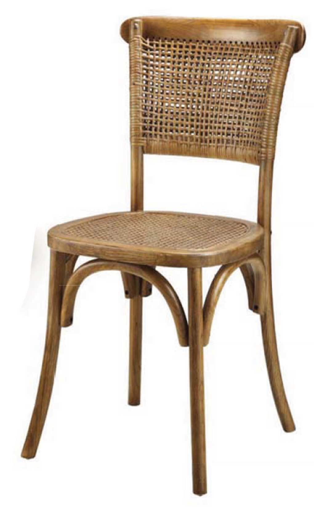 Rattan style wood dining chair.