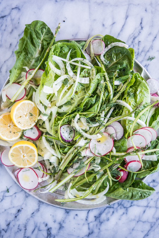 tangy spring salad with butter lettuce, fennel and lemon https://www.twopeasandtheirpod.com/about/