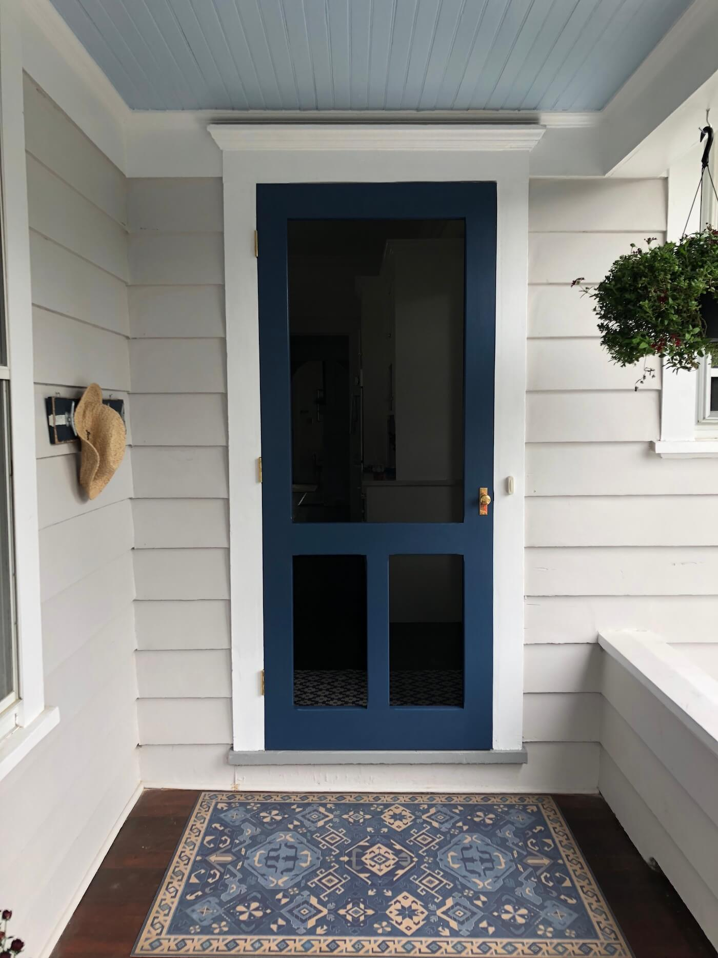Exterior custom doors in bue