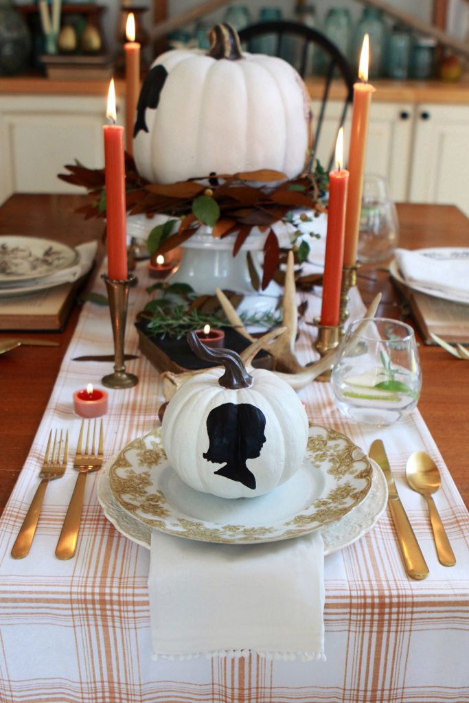 Personalized Pumpkin Place Setting