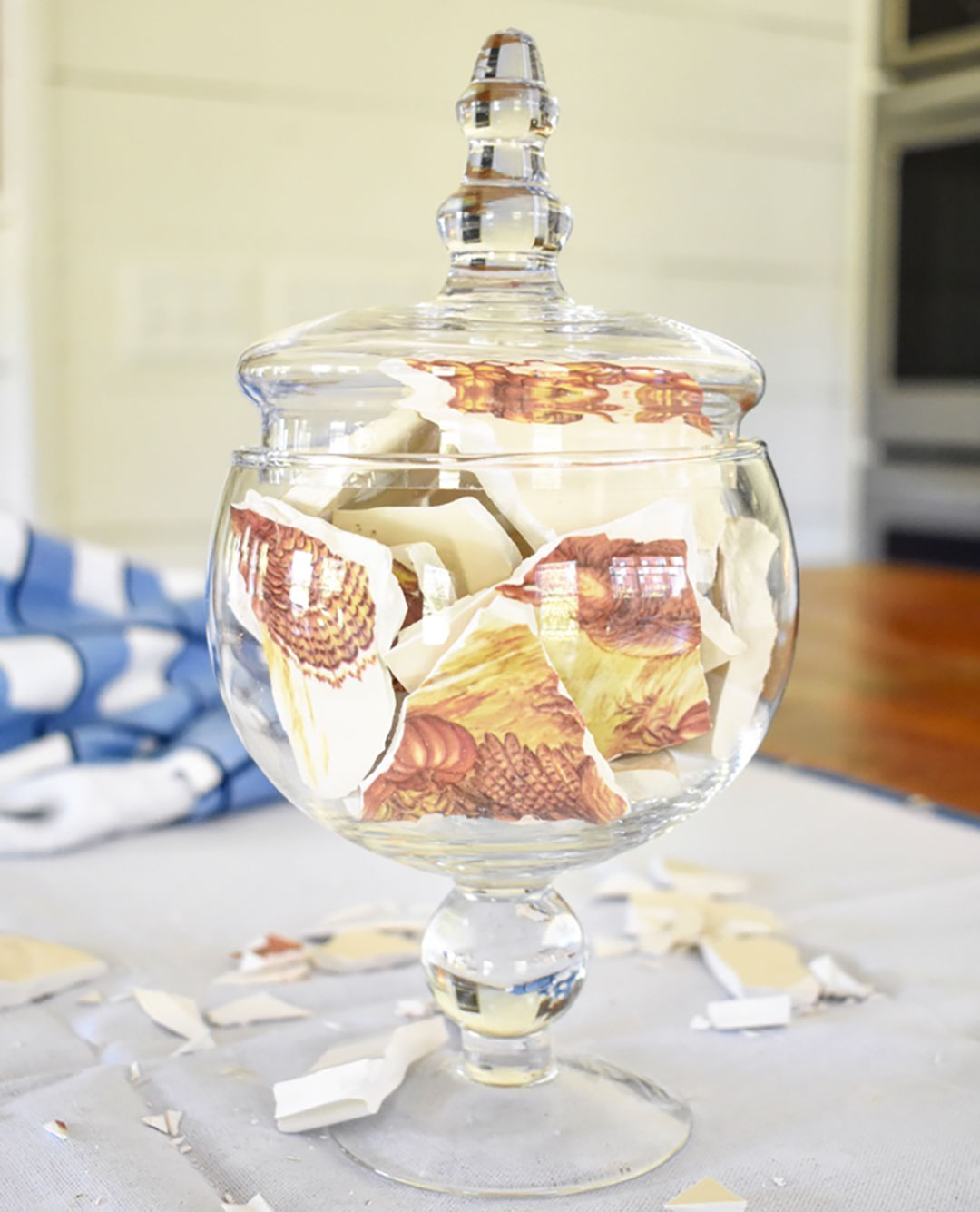 How To Use Thrift Store Plates To Create A Simple Apothecary Jar Craft 9 Cottage Style Decorating Renovating And Entertaining Ideas For Indoors And Out