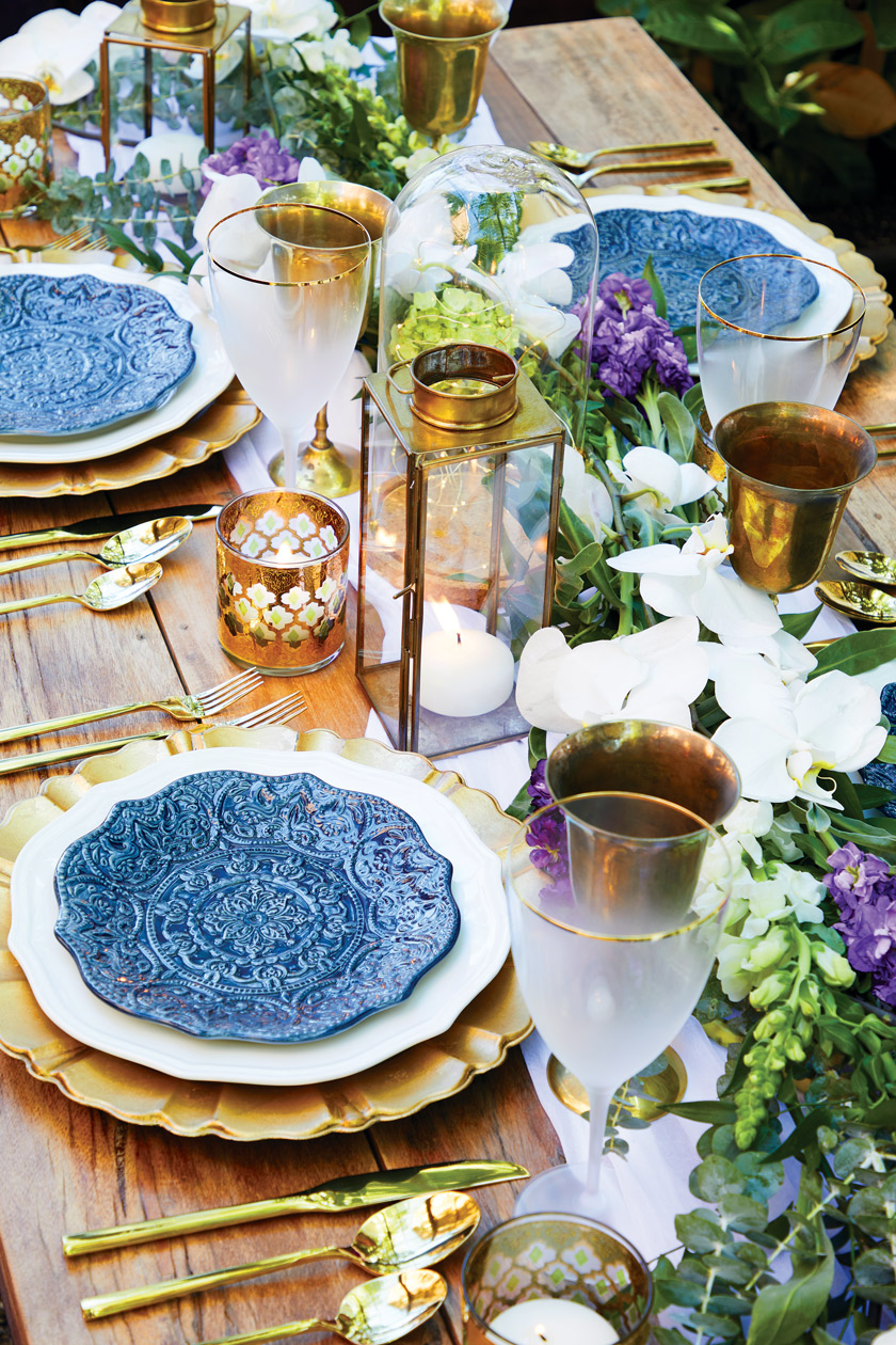Tablescape with a combination of old things and new things