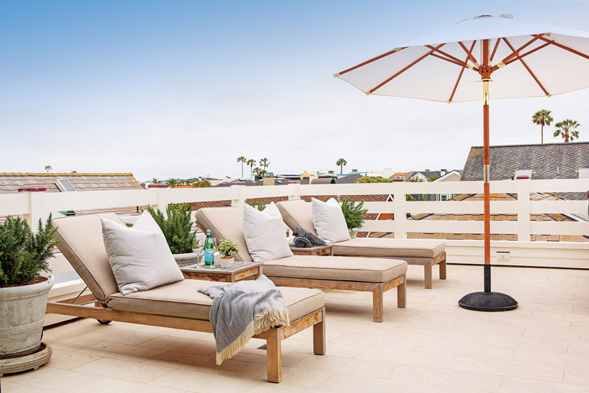 outdoor living space of beach cottage